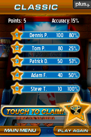 High Score Display Screenshot